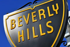 Beverly Hills tecken Royaltyfria Foton