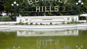 Beverly Hills tecken Royaltyfri Bild