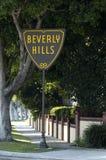 Beverly Hills tecken Royaltyfri Fotografi