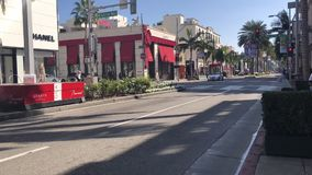 Beverly Hills, Timelapse footage. Transition, cars driving past stock video footage