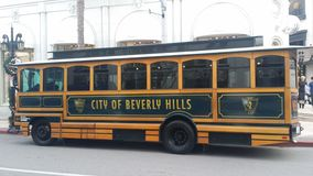 Beverly Hills Trolley Stockbild