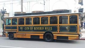 Beverly Hills Trolley Fotografering för Bildbyråer