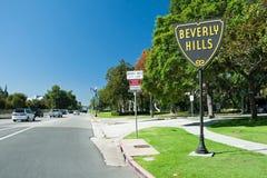 Beverly Hills undertecknar i Los Angeles parkerar Royaltyfri Fotografi