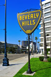 Beverly Hills, United States. BEVERLY HILLS, US - OCTOBER 16: A Beverly Hills sign in Wilshire Boulevard on October 16, 2011 in Beverly Hills, US. The affluent Stock Photography