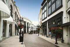 BEVERLY HILLS, US - SEPTEMBER 12: Two Rodeo in Rodeo Drive on Se Royalty Free Stock Photos