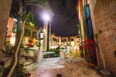 Beverly Hills vid natt Royaltyfri Foto