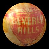 Beverly Hills wooden ball Stock Image