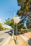 Beverly Hills znak pod niebieskim niebem Fotografia Stock