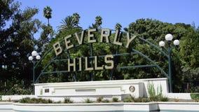 Beverly- Hillszeichen stock footage