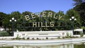 Beverly- Hillszeichen stock video footage