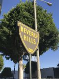 Beverly- Hillszeichen Lizenzfreie Stockfotografie