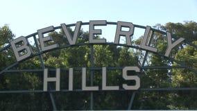 Beverly Hils tecken stock video