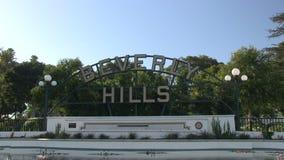 Beverly Hils tecken arkivfilmer