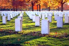 Beverly National Cemetery New Jersey. Veterans and soldiers graves at National United States military Cemetery in Beverly New Jersey Royalty Free Stock Photo
