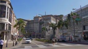 Beverly Wilshire Hotel en Rodeo Drive en Beverly Hills - CALIFORNIA, los E.E.U.U. - 18 DE MARZO DE 2019 metrajes