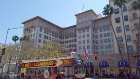 Beverly Wilshire Hotel in Beverly Hills - LOS ANGELES, USA - 1. APRIL 2019 stock video footage