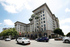 Beverly Wilshire Hotel in Los Angeles. BEVERLY HILLS, USA - MAY 2015 Beverly Wilshire Hotel in Los Angeles royalty free stock photo