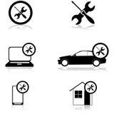 Bevestigende pictogrammen Royalty-vrije Stock Afbeeldingen
