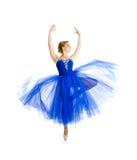Bevindend geïsoleerd dansersmeisje Stock Foto's