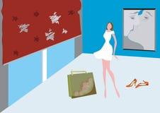 Bevindend meisje vector illustratie