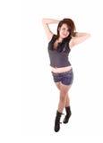 Bevindend meisje in borrels. Stock Foto