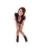 Bevindend meisje in borrels. Stock Foto's