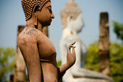 Bevindende Boedha in Sukhotai, Thailand Stock Afbeeldingen