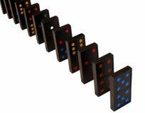 Bevindende domino's Royalty-vrije Stock Fotografie