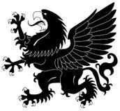 Bevindende heraldische griffioen Royalty-vrije Stock Afbeeldingen