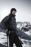 Bevindende skiër Royalty-vrije Stock Foto