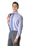 Bevindende smilling bedrijfsmens Stock Foto