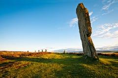 Bevindende steen bij ring van brodgar royalty-vrije stock fotografie