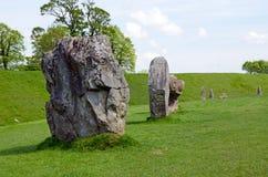 Bevindende stenen in Avebury, Engeland Royalty-vrije Stock Fotografie