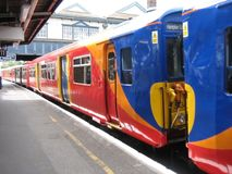 Bevindende trein royalty-vrije stock afbeelding