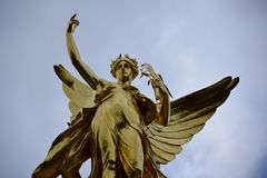 Bevingad segerskulptur Royaltyfria Foton