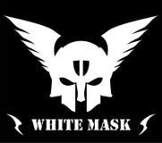 Bevingad vit maskering royaltyfri illustrationer