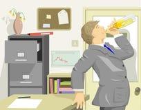 Bevitore dell'ufficio Fotografia Stock