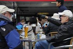 Bevitori di birra Fotografia Stock Libera da Diritti
