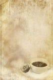 Bevlekt Document met Kop van Koffie stock illustratie