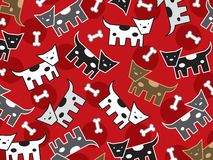 Bevlekt doggies patroon stock illustratie