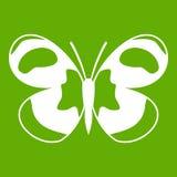 Bevlekt groen vlinderpictogram Stock Fotografie