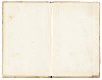 Bevlekt open boek op witte achtergrond royalty-vrije stock afbeelding