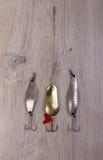 Bevlekt wobbler voor visserij stock foto's