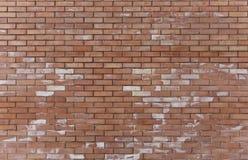 Bevlekte bakstenen muur Royalty-vrije Stock Afbeeldingen