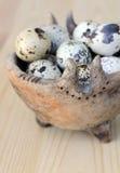 Bevlekte Eieren Stock Foto