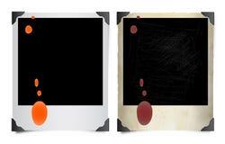 Bevlekte Polaroid- foto's Stock Afbeelding