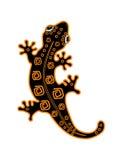 Bevlekte salamander met patroon op de rug royalty-vrije illustratie