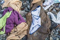 Bevloering van de zwerver de kleren verspreide steen Royalty-vrije Stock Afbeelding