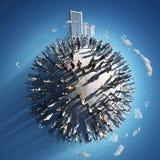 Bevolking van een planeet royalty-vrije illustratie