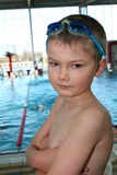 Bevor Start. Young swimmer befor a start royalty free stock images